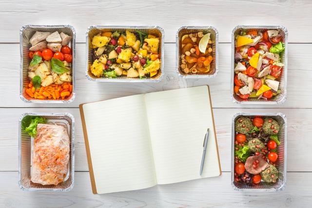 食べ物とノート